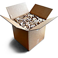 box of 1000 recycled wine corks for on-line shopping