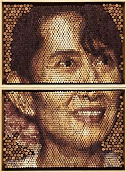 Conrad Engelhardt's portrait of Nobel laureate Aung San Suu Kyi